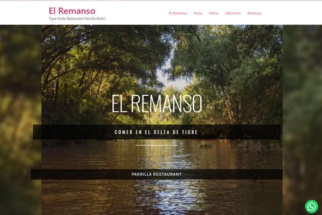 sitio web restaurante